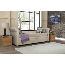 avenue greene jordyn grey linen upholstered daybed free shipping