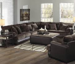 U Shaped Sectional With Chaise U Shaped Gray Leather Plaid Pattern Sectional Sleeper Sofa With