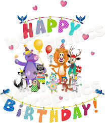 about happy birthday letters removable reusable wall stickers happy birthday with animals wall stickers decals set removable and 2