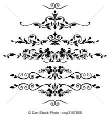 vector of set of floral ornaments vector floral ornaments for