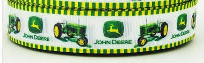deere tractor 7 8 wide grosgrain by supplyonadime on zibbet