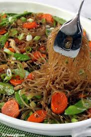 Easy Main Dish - korean glass noodles with vegetables