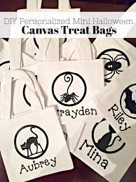 diy personalized halloween canvas treat bags sew woodsy