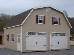 gambrel garage amish 24x24 double wide garage gambrel roof structure ebay