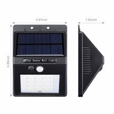 Solar Security Motion Sensor Light 16 led outdoor solar powered light pir motion sensor lamp for