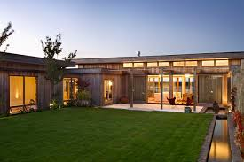 modern u shaped homes with walled interior courtyard google