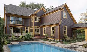 maibec residential toronto area country style house with