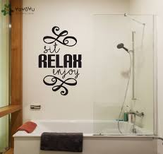 compare prices on salon relax online shopping buy low price salon bathroom wall decal quotes sit relax enjoy removable wall stickers home art mural spa master massage