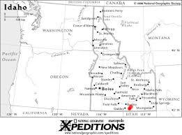map of idaho map of idaho city of rocks