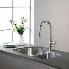Kitchen Sink With Cabinet Kraus Kbu21 30 Inch Undermount 60 40 Double Bowl 16 Gauge