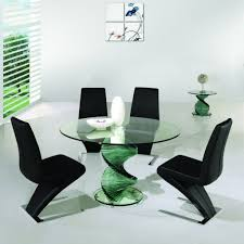 Round Dining Table With Glass Top Modern Dining Room Tables White Lacquered Pine Wood Dining Table