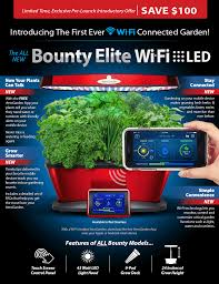 special offer on the all new miracle gro aerogarden bounty wifi