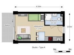 floor plan studio type studio type a 23m2 van der vorm vastgoed b v