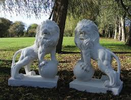 lion statues white marble lion statues for sale for home garden gate decoration