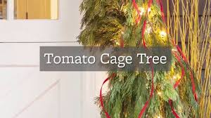 better homes and gardens christmas decorations diy tomato cage christmas tree youtube