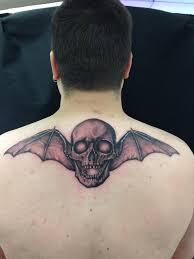 a7x deathbat tattoo by dizzle214 on deviantart