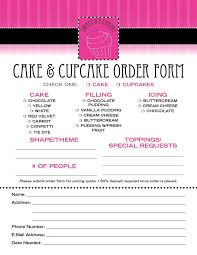 cupcake order form cake order contract email this blogthis