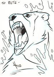 sea bear u0026 grizzly shark sketch card in peter alger u0027s jason
