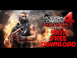 modern combat zero hour apk modern combat 4 zero hour apk data for free fix
