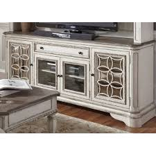 74 inch antique white tv stand magnolia manor rc willey