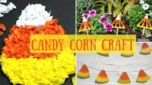 candy corn halloween craft candy corn decorations for kids youtube