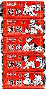 1996 nestle disney 101 dalmatians chocolate wrappers