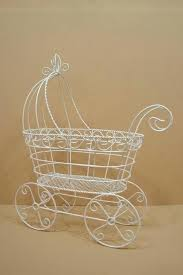 carriage centerpiece wire baby carriage centerpiece wholesale mini boy decor order