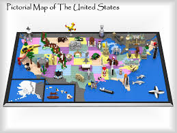 Map Of The Untied States Lego Ideas Pictorial Map Of The United States