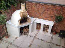 outdoor pizza ovens with stucco finish forno bravo authentic