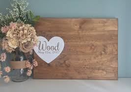 Rustic Wedding Guest Book Rustic Wedding Guest Book Alternative Painted Heart Guest Book