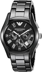 armani watches bracelet images Buy emporio armani ceramica men 39 s black dial ceramic band jpg