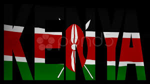 Flag Of Kenya Kenya Text With Fluttering Flag Animation Hi Res 11812131
