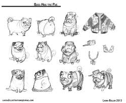 laura slater u0027s tea time sketch blog a skeezeball and his hip hop pug