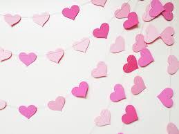 pink garland decor pink hearts garland