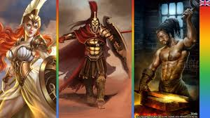 the 12 olympian gods ares god of war athena goddess of war