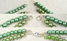 double strand beaded necklace images Simple tutorial on making double strand beaded necklace with pearl jpg