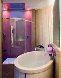 ultra modern bathroom design with corner shower feat glass