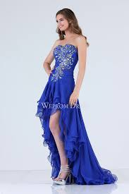 sweetheart royal blue high low cocktail dress for weddings