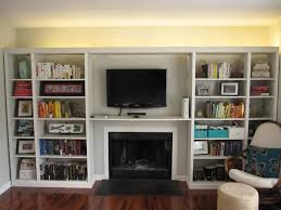 i like the ambient lighting behind the bookcase and the books