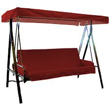shop garden treasures red solid cushion for porch swing at lowes com