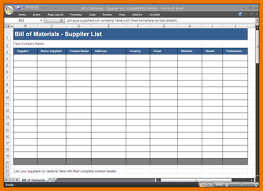 Bill Of Materials Excel Template Excel Bill Template Bom8 Png Scope Of Work Template