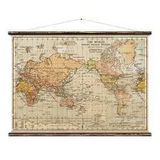 Political World Map Erstwhile World Political Wall Map Huckberry