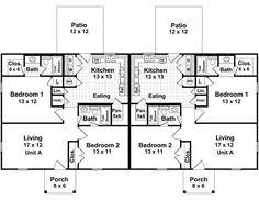 Multi Family Homes Floor Plans Fordyce Crest Multi Family Home Plan 055d 0369 House Plans And