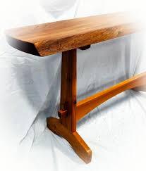 Oak Sofa Table Live Edge Oak Sofa Table Wood Monkey Studio