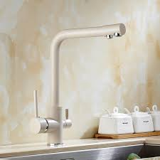 Solid Brass Kitchen Taps by 2017 Wholesale Solid Brass Beige White Kitchen Faucet Double Spout