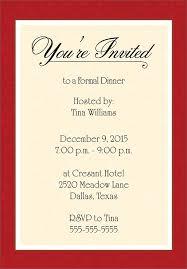 christmas dinner invitation wording sample holiday invitation