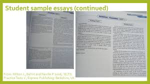 sample essays introduction to ielts get to know the format ppt video online student sample essays continued