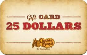 cracker barrel gift card cracker barrel gift card 25 philadelphia bookstore