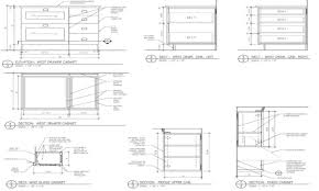 Kitchen Cabinet Design Layout by Kitchen Cabinet Details Drawing Monsterlune