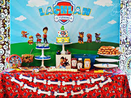 kara u0027s party ideas sweet table paw patrol birthday party